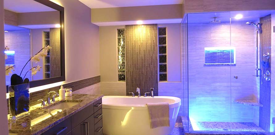 led lighting ideas for bathrooms
