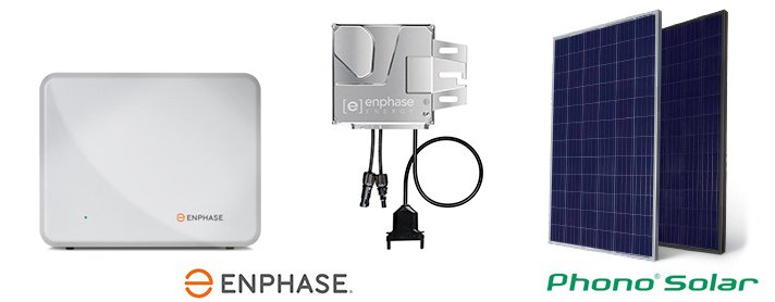 enphase products and phono solar panels