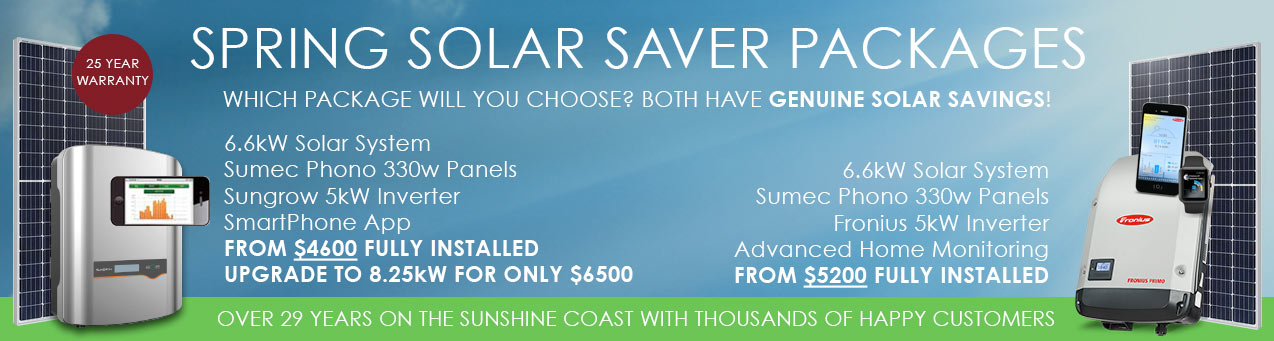 spring solar saver packages