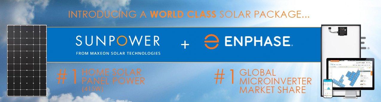 sunpower enphase solar package