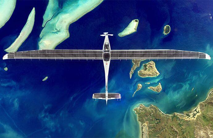 A solar powered airplane
